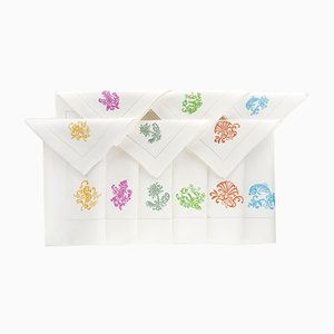 Stylized Sea Napkins & Placemats by The NapKing for Bellavia Ricami SPA, Set of 6