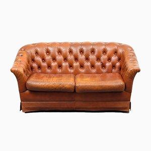 2-Sitzer Leder Sofa, 1970er
