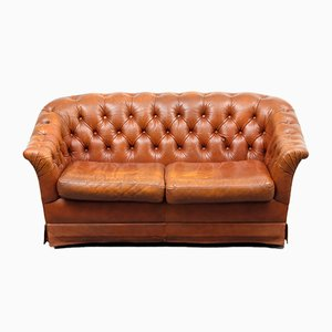 Leather 2-Seater Sofa, 1970s