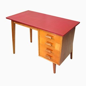 Small Danish Wooden Desk, 1950s