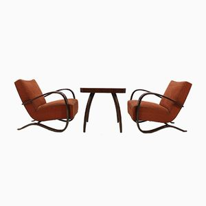 Art Deco H-269 Armchairs & Spider Coffee Table by Jindřich Halabala