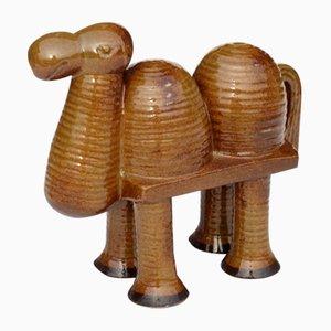 Gustavsberg Stoneware Camel by Lisa Larson, 1960s