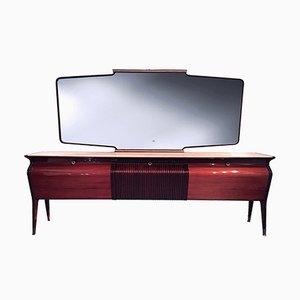 Mid-Century Italian Rosewood Sideboard with Mirror by Osvaldo Borsani, 1950s
