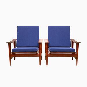 Skandinavische Mid-Century Armlehstühle, 1960er, 2er Set