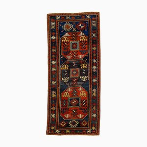 Antique 19th Century Kazak Hand-Knotted Chajli Rug