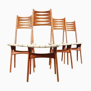Sedie da pranzo in teak di Niels Møller per Bolting Stolefabrik, Danimarca, anni '60, set di 4