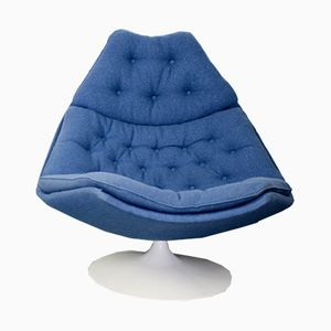 Model F588 Blue Swivel Chair by Geoffrey Harcourt for Artifort, 1960s