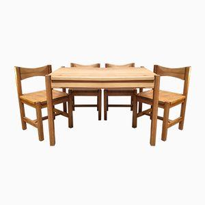 Tavolo e 4 sedie di Ilmari Tapiovaara, anni '50