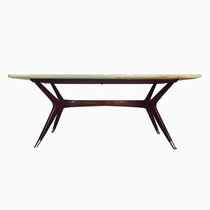 Mid-Century Italian Green Onyx Coffee Table