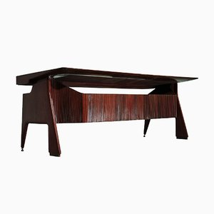 Mid-Century Italian Walnut Executive Desk by Vittorio Dassi, 1950s
