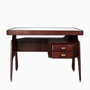 Kleiner italienischer Mid-Century Walnuss Schreibtisch von Vittorio Dassi, 1950er