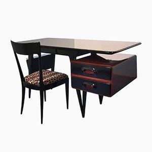 Schreibtisch mit Stuhl von Silvio Cavatorta, 1950er