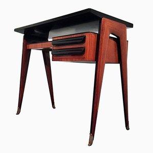 Small Italian Rosewood Dattilo Desk by Vittorio Dassi, 1950s