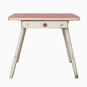 Mid-Century Children's Table with Red Formica Top