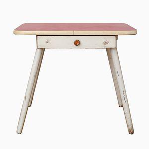 Tavolo da bambino Mid-Century con ripiano in legno di formica rosso