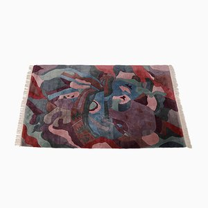Vintage Multicolored Rug, 1980s