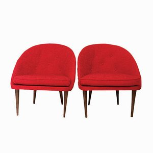 Italian Cocktail Shell Chairs, 1960s, Set of 2