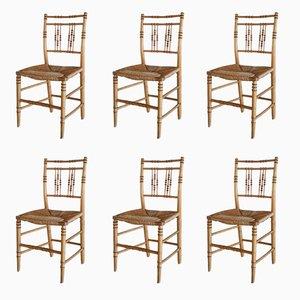 Stühle in Bambus Optik, 19. Jh., 6er Set