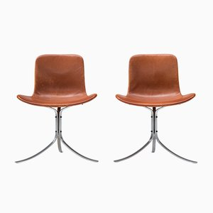 Vintage PK9 Chairs von Poul Kjaerholm für E. Kold Christensen, 2er Set