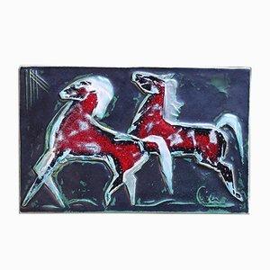 Keramik Wanddekoration von Helmut Schaeffenacker, 1950er