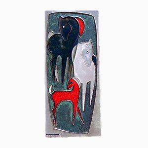 Ceramic Wall Hanging by Helmut Schaeffenacker, 1950s