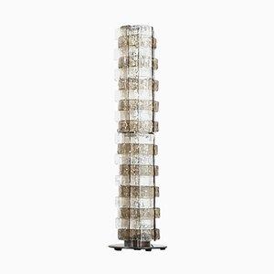 Vintage Italian Smoked Murano Glass Floor Lamp by Carlo Nason for Mazzega