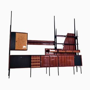 Mid-Century Italian Rosewood Bookcase and Sideboard by Vittorio Dassi, 1950s