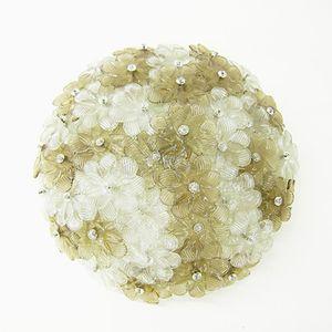 Florale Murano Glas Deckenleuchte von Seguso, 1960er