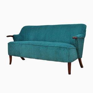 Mid-Century Turquoise Sofa, 1950s
