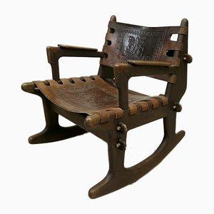 Rocking Chair Vintage par Angel I. Pazmino pour Muebles de Estilo, Ecuateur