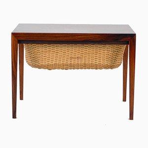Vintage Danish Teak Sewing Table by Severin Hansen