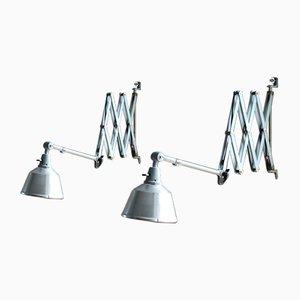 Vintage Scissor Lamps from Midgard, Set of 2