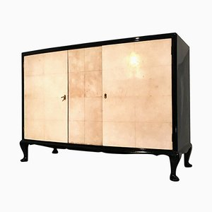 French Art Deco Parchment Sideboard, 1950s
