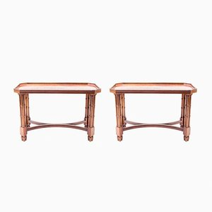 Varnished Mahogany Side Tables, 1960s, Set of 2