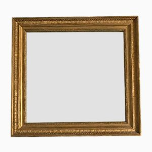 19th Century Small Mirror with Gilded Frame