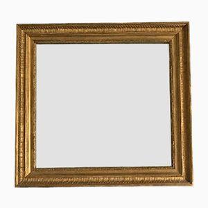 Kleiner Spiegel mit vergoldetem Rahmen, 19. Jh.