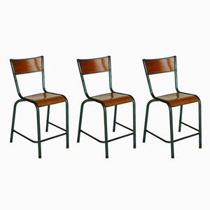 Industrielle vintage Stühle von Jean Prouvé, 3er Set