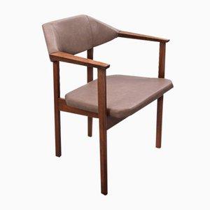 Vintage Art Deco Beistellstuhl in Kunstleder von Hulmefa