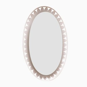 Illuminated Oval Mirror by Ernest Igl for Hillebrand, 1950s