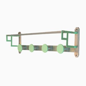 Art Deco French Metal & Aluminum Coat Rack