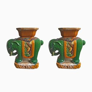 Elephant Planters, 1970s, Set of 2