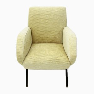 Italian Yellow Armchair from Bonino, 1950s