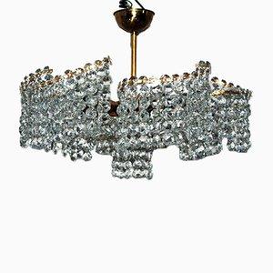 Kristallglas Kronleuchter mit Swarovski Kristallglas, 1950er