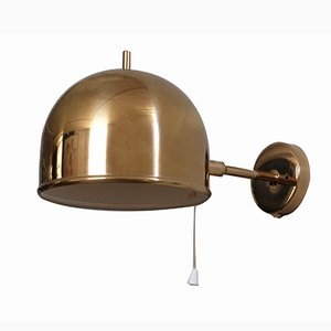 Brass Wall Lamp from Bergboms, 1960s