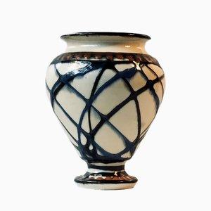 Dänische Art Deco Keramik Vase von Herman August Kähler, 1920er