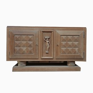 Art Deco Oak Credenza by Gaston Poisson, 1930s