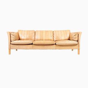 3-Sitzer Leder Sofa von Mogens Hansen, 1980er