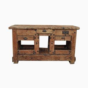 Vintage Industrial Fir Workbench, 1920s
