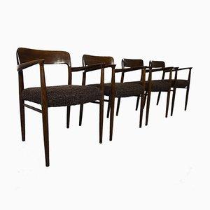 Oak Model 56 Chairs by Niels O. Möller for J.L. Møllers, Set of 4