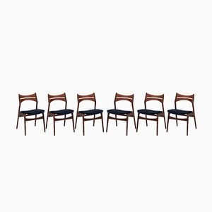 Model 310 Dining Chairs by Erik Buch for Christiansen Mobelfabrik, 1960s, Set of 6